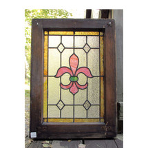 G16060 - Antique Stained and Textured Glass Window