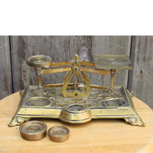 A16088 - Antique English Brass Balance Scale