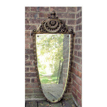 A16090 - Antique Painted & Gilded Gesso Mirror