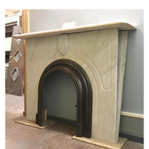 M16016 - Antique Renaissance Revival Style Marble Mantel