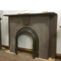 M16017 - Antique Victorian Slate Half Mantel