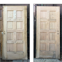 "D16156 - Single Antique Revival Period Oak Interior Door 35-3/4"" x 79-3/4"""