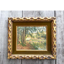 A16099 - Vintage Oil on Canvas Scenic Painting