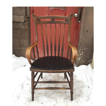 F16188 - Antique Hickory and Maple Arm Chair