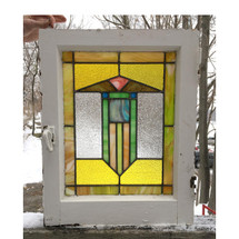 G16073 - Antique Arts & Crafts Stained Glass Window