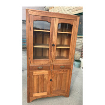 F16195 - Antique One Piece Transitional Oak Cupboard