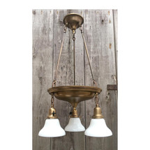 L16230 - Antique Revival Period Three Light Hanging Pan Fixture