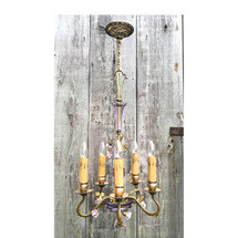 L17010 - Antique Five-Arm French Light Fixture