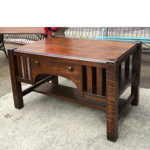F17008 - Antique Quartersawn Oak Arts and Crafts Library Table