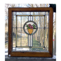 G17008 - Antique Arts and Crafts Stained Glass Window