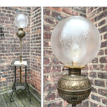 L17019 - Antique Victorian Parlor Lamp