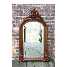 A17004 - Antique Renaissance Revival Walnut Wall Hung Mirror
