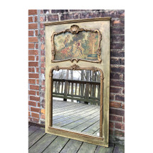 A17005 - Antique French Revival Style Trumeau Mirror
