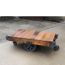 F17016 - Antique Industrial Cast Iron Cart