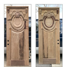 """D17016 - Single Vintage Neoclassical Carved Mahogany Exterior Door 36"""" x 96"""""""