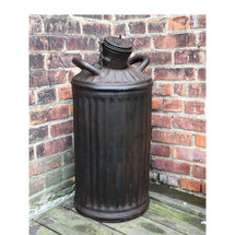 A17012 - Antique Large Corrugated Oil Can