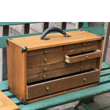 A17017 - Antique Oak Machinists Tool Box