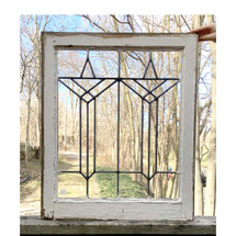 G17026 - Antique Arts & Crafts Leaded Glass Window
