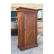 F17020 - Antique Victorian Ash Wood Wardrobe