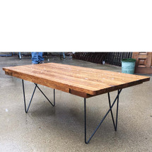 F17022 - Custom Industrial Style Oak Coffee Table