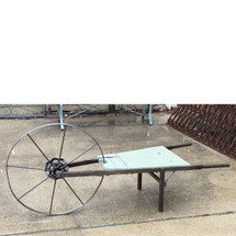 "A17019 - Antique Wood and Iron ""Thompsons's Wheelbarrow Grass Seeder"""