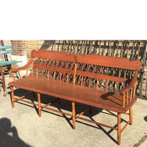 F17025 - Antique Country Empire Style Pine Bench