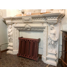 M17007 - Contemporary Cast Stone Fireplace Half Mantel