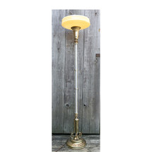 L17049 - Antique Art Deco Torchiere Floor Lamp