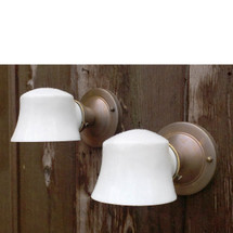 L17050 - Pair of Antique Revival Period Bathroom Sconces