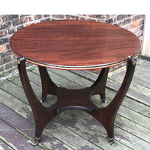 "F17030 - Antique Mahogany Flip Top ""Huntzinger"" Game Table"