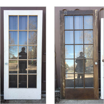 "D17047 - Single Antique Int/Ext French Door 36"" x 83"""