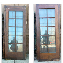 "D17050 - Single Antique Interior French Door 31-3/4"" x 79-3/4"""