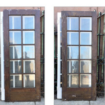 "D17051 - Single Antique Int/Ext French Door 31-3/4"" x 80"""