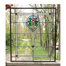 G17029 - Antique Revival Period Stained Glass Window