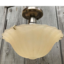 L17077 - Custom Ceiling Light Fixture With Antique Bowl Shade