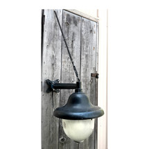 L17078 - Large Antique Exterior Sconce with Double Halophone Globes