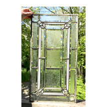G17036 - Antique Revival Period Textured and Stained Glass Window