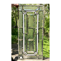 G17036A - Antique Revival Period Textured and Stained Glass Window