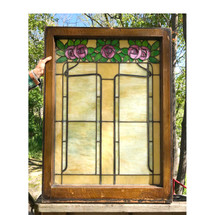 G17037 - Antique Arts and Crafts Stained Glass Window