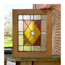 G17047 - Antique Stained Glass Window