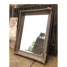 A17032 - Vintage Neoclassical Oversize Beveled Mirror