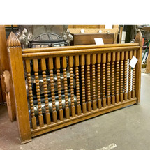 S17032 - Antique Victorian Era Oak Balustrade with Newel Posts