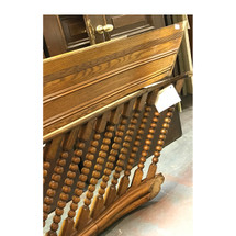S17033 - Antique Victorian Era Oak Balustrade with Baseboard