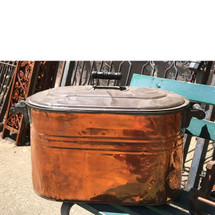 A17034 - Antique Turn-of-the-Century Copper Boiler with Lid