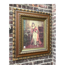 A17041 - Antique Wood and Gesso Frame with Print