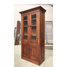 F17060 - Antique Victorian Pine Paneled Cupboard