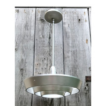 L17137A - Vintage Mid Century Modern Hanging Light Fixture
