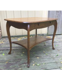 F17084 - Antique Revival Period Oak Library Table