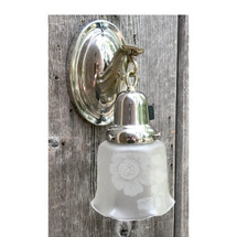 L17048 - Antique Colonial Revival Nickel Plated Sconce