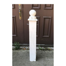 S17044 - Vintage Painted Pine Neoclassical Exterior Newel Post
